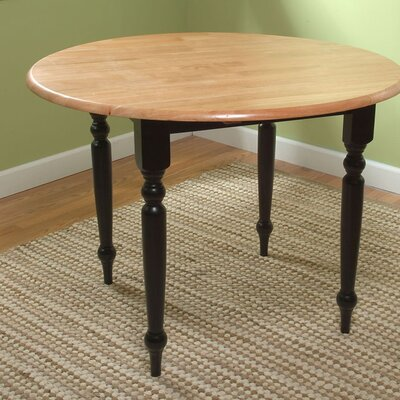 Belle Haven Double Drop Leaf Dining Table Finish: Black / Natural