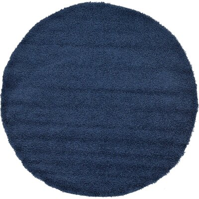 Falmouth Navy Blue Area Rug Rug Size: Round 82