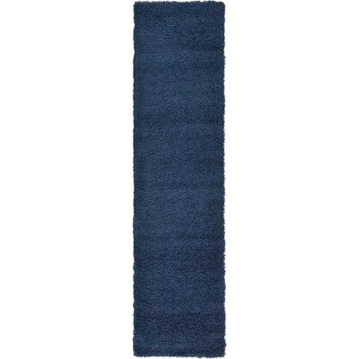 Falmouth Navy Blue Area Rug Rug Size: Runner 22 x 65