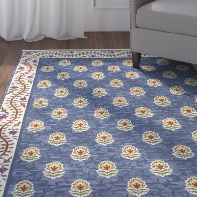 Glarus Handmade Blue Area Rug Rug Size: Rectangle 56 x 75