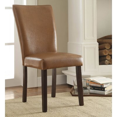 Pomfret Espresso Parson Chair Color: Havana Brown