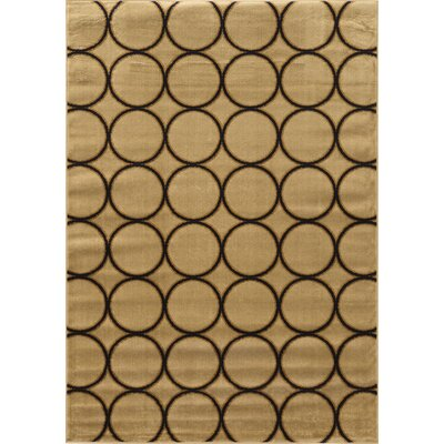 Alica Multi Circles Cream Area Rug Rug Size: 2 x 3