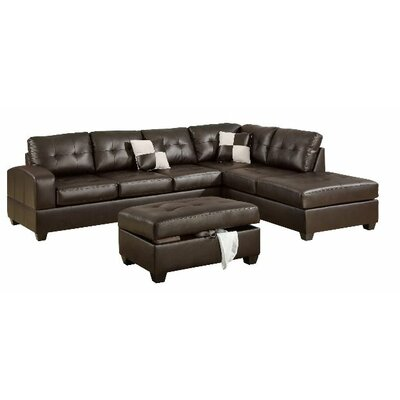 Corporate Reversible Chaise Sectional Upholstery: Espresso