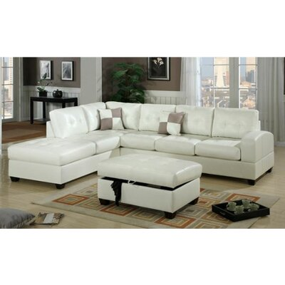 Corporate Reversible Chaise Sectional Upholstery: Cream