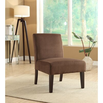 Shelton Arm Chair Upholstery: Chocolate Velvet