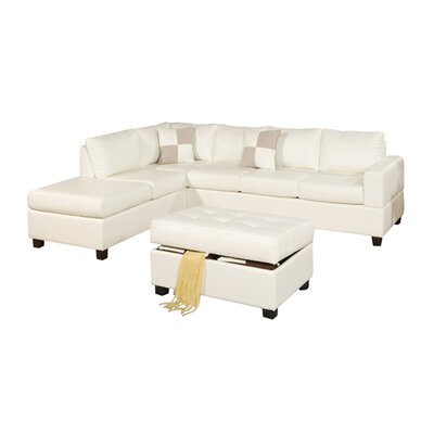 Andover Mills ANDO4344 32428129 Corporate 5 Piece Bonded Bonded Leather Sectional Sofa Upholstery