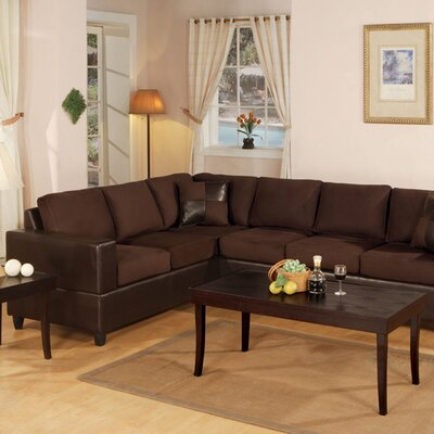 Corporate Reversible Chaise Sectional Upholstery: Chocolate