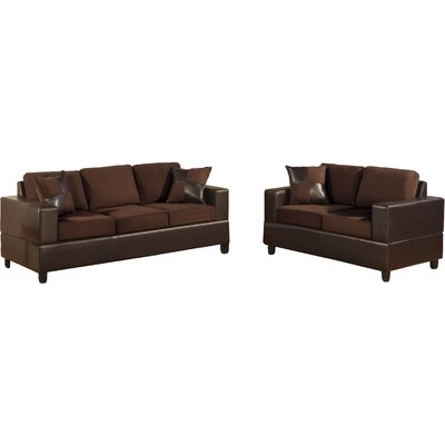 Corporate 2 Piece Sofa and Loveseat Set Upholstery: Chocolate