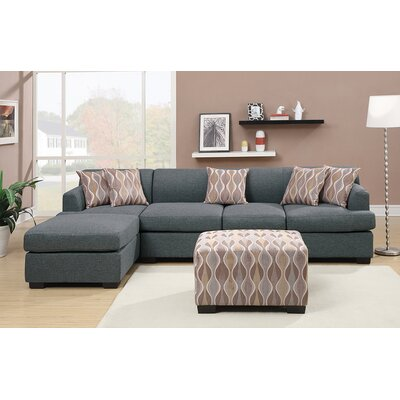 ANDO4355 32428152 Andover Mills Blue Gray Sectionals