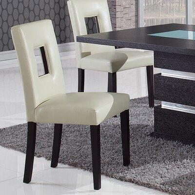 Christensen Upholstered Parsons Chair Upholstery: Beige