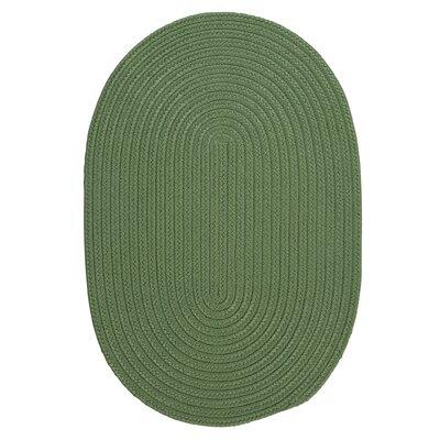 Mcintyre Moss Green Indoor/Outdoor Area Rug Rug Size: Oval 7 x 9