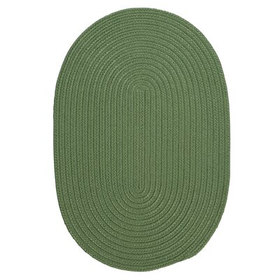 Mcintyre Moss Green Indoor/Outdoor Area Rug Rug Size: Oval 10 x 13