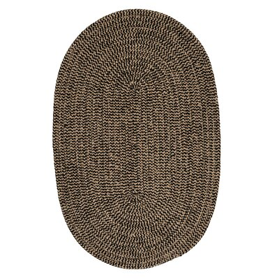 Hale Black Check Indoor/Outdoor Area Rug Rug Size: Oval 4 x 6