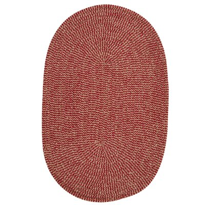Ridley Sangria Check Indoor/Outdoor Area Rug Rug Size: Oval 7 x 9