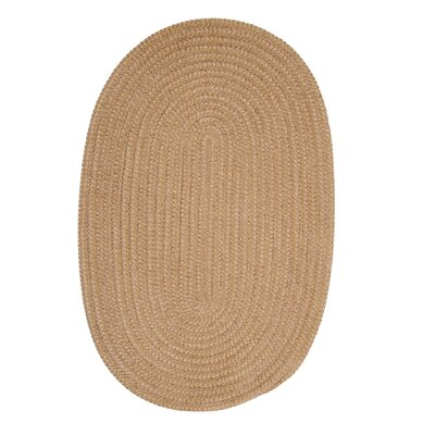 Hale Buff Check Indoor/Outdoor Area Rug Rug Size: Oval 2 x 4