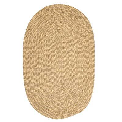 Ridley Pale Banana Check Indoor/Outdoor Area Rug Rug Size: Oval 2 x 3