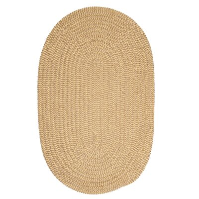 Ridley Pale Banana Check Indoor/Outdoor Area Rug Rug Size: Oval 12 x 15