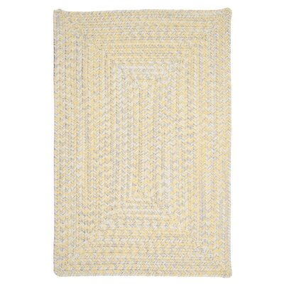 Rockland Yellow Sun-Soaked Indoor/Outdoor Area Rug