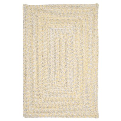 Rockland Yellow Sun-Soaked Indoor/Outdoor Area Rug Rug Size: 2 x 3