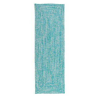 Rockland Turquoise Indoor/Outdoor Area Rug Rug Size: Runner 2 x 8