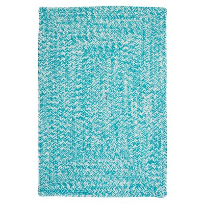 Rockland Turquoise Indoor/Outdoor Area Rug Rug Size: 7 x 9