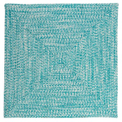 Rockland Turquoise Indoor/Outdoor Area Rug Rug Size: Square 12