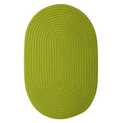 Mcintyre Bright Green Indoor/Outdoor Area Rug Rug Size: Oval 2 x 3