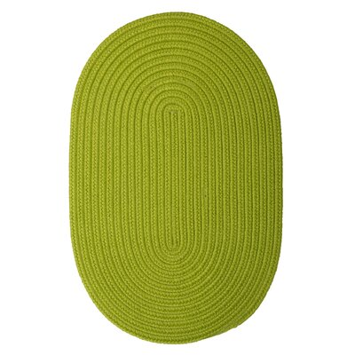 Rainsburg Bright Green Indoor/Outdoor Area Rug Rug Size: Oval 2 x 4