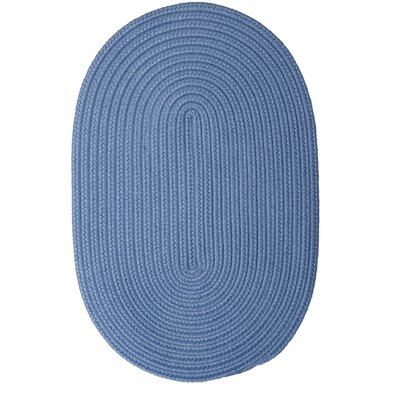 Mcintyre Blue Ice Outdoor Area Rug Rug Size: Oval 3 x 5