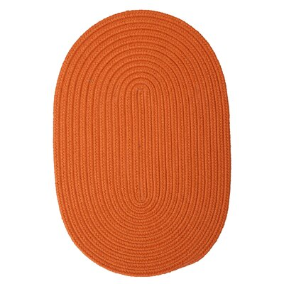 Mcintyre Rust Outdoor Area Rug Rug Size: Oval 3 x 5