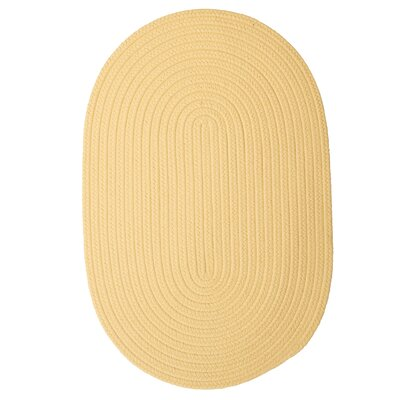 Mcintyre Pale Banana Outdoor Area Rug Rug Size: Oval 12 x 15