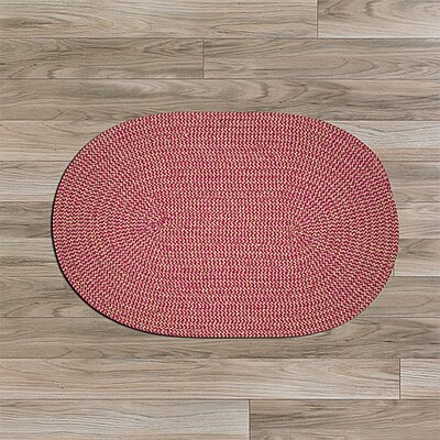 Ridley Pink Outdoor Area Rug Rug Size: Oval 7 x 9