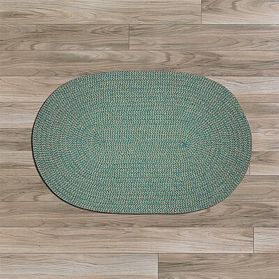Ridley Green Outdoor Area Rug Rug Size: Oval 7 x 9