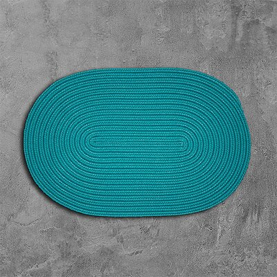 Rainsburg Green Outdoor Area Rug Rug Size: Oval 7 x 9