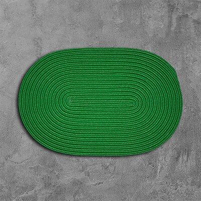 Rainsburg Green Outdoor Area Rug Rug Size: Oval 2 x 12
