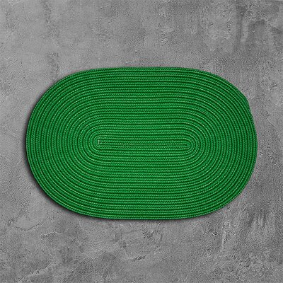 Mcintyre Green Outdoor Area Rug Rug Size: Oval 7 x 9