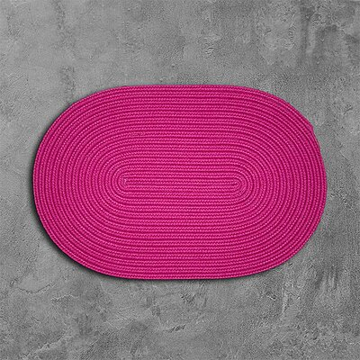 Rainsburg Pink Outdoor Area Rug Rug Size: Oval 2 x 12