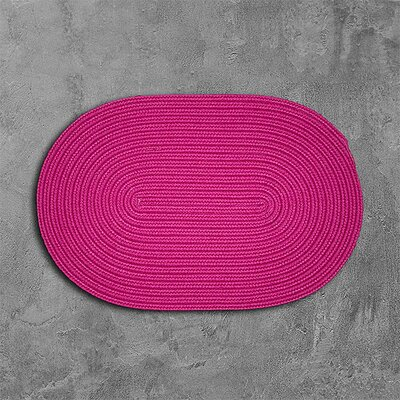 Rainsburg Pink Outdoor Area Rug Rug Size: Oval 2 x 3