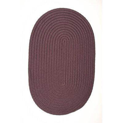 Mcintyre Eggplant Indoor/Outdoor Area Rug Rug Size: Oval 3 x 5