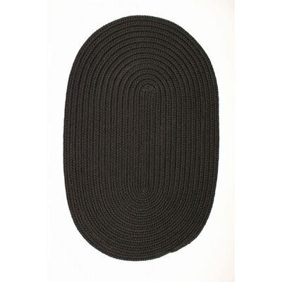 Mcintyre Black Indoor/Outdoor Area Rug Rug Size: Oval 3 x 5