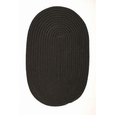 Mcintyre Black Indoor/Outdoor Area Rug Rug Size: Oval 8 x 11