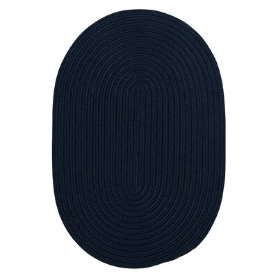 Mcintyre Navy Indoor/Outdoor Area Rug Rug Size: Oval 2 x 4