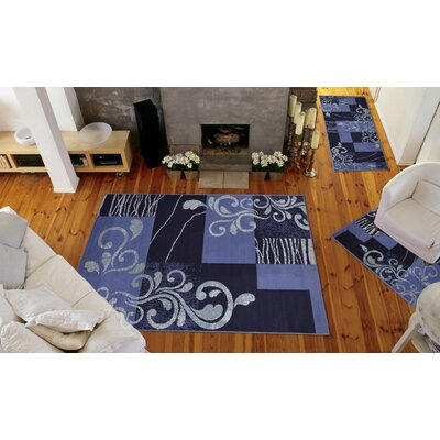 Portersville Blue 3 Piece Area Rug Set