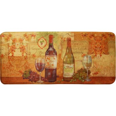 Cindy Wine Kitchen Mat