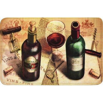 Quarryville Wine Corkscrew Kitchen Mat