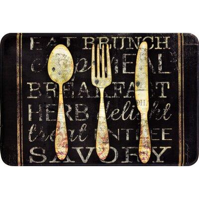 Quarryville Chalkboard Silverware Kitchen Mat
