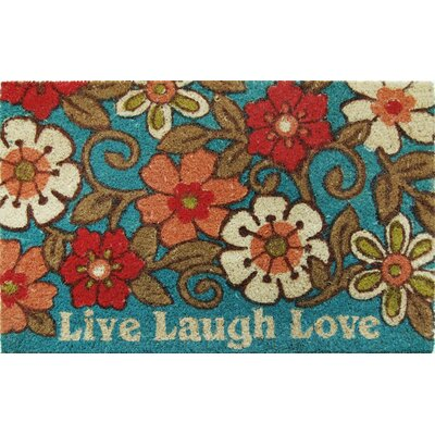 Carrie Live Laugh Love Doormat Color: Blue, Rug Size: 18 x 310
