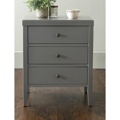 Rushville 3 Drawer Nightstand Color: Gray
