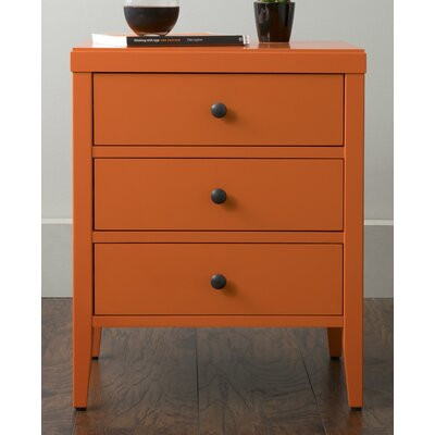 Rushville 3 Drawer Nightstand Finish: Orange