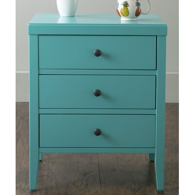 Rushville 3 Drawer Nightstand Finish: Turquoise
